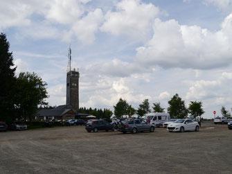 Signal de Botrange, mit Restaurant unter'm Turm
