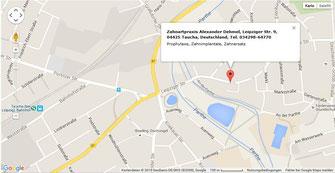 Anfahrt Zahnarztpraxis Taucha bei Leipzig