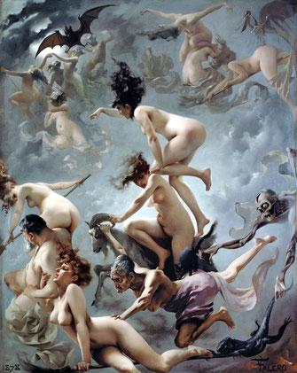 "Luis Ricardo Falero ""Der Aufbruch der Hexen"", 1878 145,5 x 118,2 cm, Öl/Leinwand © Privatsammlung, Monza – Italien"