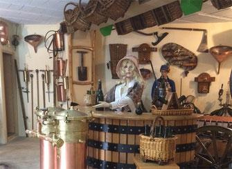 Champagne Benoit HUGOT. Musée de la vigne. Outils Champenois