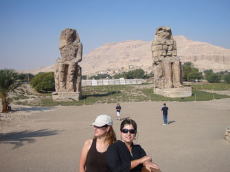 colosos de Memnón; Egipto; Amenhotep III; Naty Sánchez;