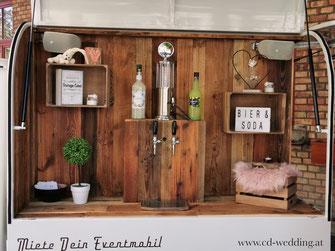 Weinkühler, Foodtruck, Catering zum Mieten, Mobile Bar, Mobile Cocktailbar
