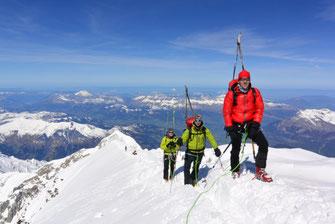 Am Montblance Gipfel