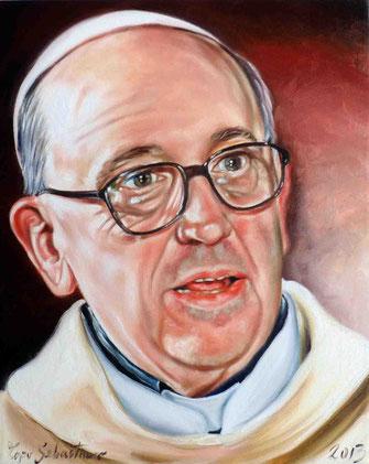 Papa Francesco - Olio su tela 40X50