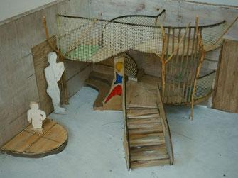 Modell einer Spiellandschaft für eine U3 Gruppe - geplant -