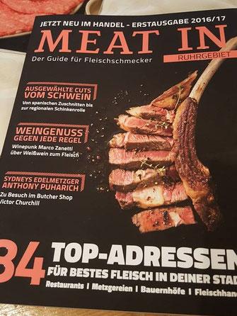 """Cover der Zeitschrift """"Meat in"""""""