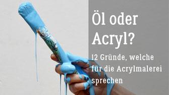 Ein Acrylbild entsteht - Nass in Nass Technik