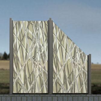Glaszaun für Terrasse