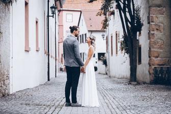 Hochzeitsfotos Altstadt Vintage Look Würzburg, Schweinfurt, Kitzingen, Mainfranken