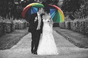 kreative Bildbearbeitung für Hochzeitsfotos