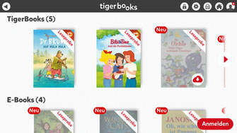 Bibliothek in Tigerbooks