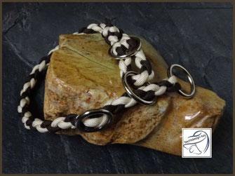 Geflochtenes Hundehalsband, Zugstopphalsband, Paracordhalsband