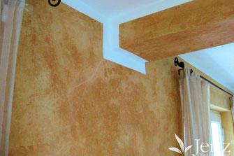 wohnzimmer wandgestaltung im mediterranen stil