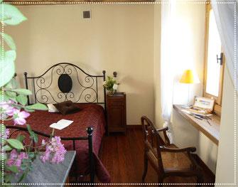 Schlafzimmer im Casa Bureglio
