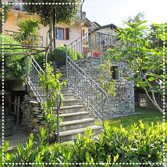 Tessiner Treppe am Casa Bureglio