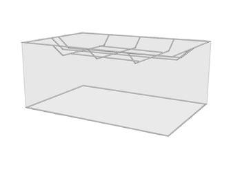 Lampenschirme rechteckig zur Deckenbeleuchtung