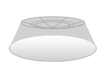 Lampenschirm flach kegelförmig