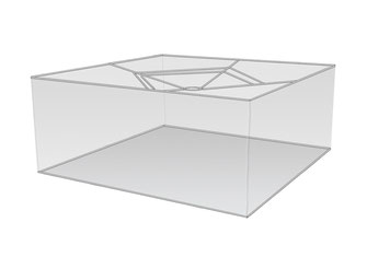 Große Lampenschirme quadratisch