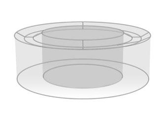 Lampenschirm ringförmig innen offen