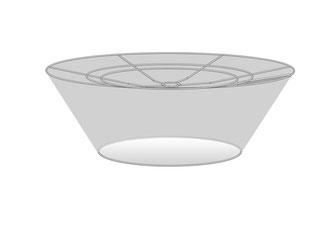 Lampenschirm Design konisch