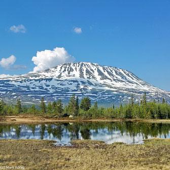 Der Gaustatoppen ist mit einer Höhe von 1883 Metern der höchste Berg der norwegischen Provinz Telemark (Juni 2016)