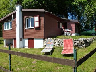 maison avec jardin en été