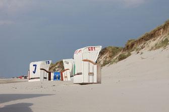 Insel Amrum Strand Strandkörbe Dünen