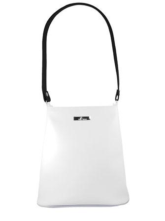 weiß-schwarze Kindertasche - im puristischen Stil