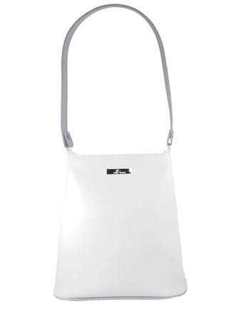 weiß-graue Kindertasche / puristischer Stil