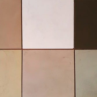 Kleuren samples staaltjes beton cire Nederland