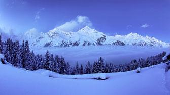 Sonnenaufgang blauestunde blaue stunde wolken clouds cloud Winter Rauris Raurisertal Panorama Alm Salzburg Zell am See Nationalpark Hohe Tauern sunrise simon knittel maulbronn fotograf foto
