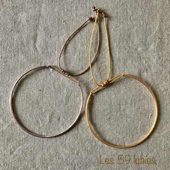 Bracelets pour femmes et enfants constitués de perles bois/pierre de gemme montés sur élastique