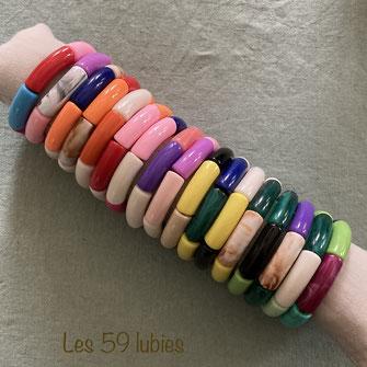 Bracelets pour femmes ou enfants ajustables toute taille : motifs étoile, nuage, feuille, cactus, hexagone, croix, perles montés sur un fil de jade couleur au choix ajustable avec fermoir ou noeud coulissant