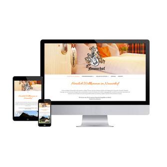Kathi Klotz Kommunikationsdesign Webdesign Referenz Neunerhof Leutasch