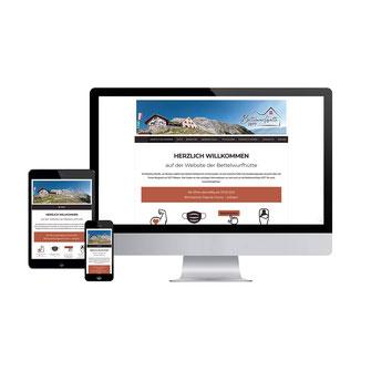 Kathi Klotz Kommunikationsdesign Webdesign Referenz Bettelwurfhütte