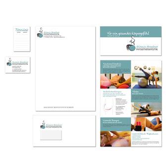 Kathi Klotz Kommunikationsdesign Geschäftsausstattung Referenz Bianca Brantner Physiotherapie