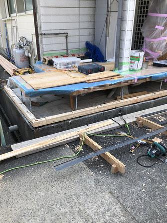 土台施工~柱~桁の画像2