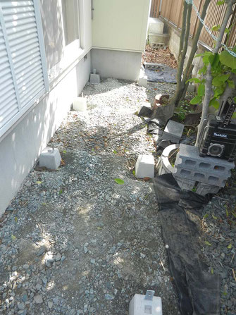 足下柱石設置の画像1