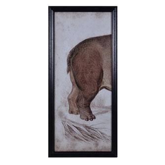 Hippo Print ARt Deco Style