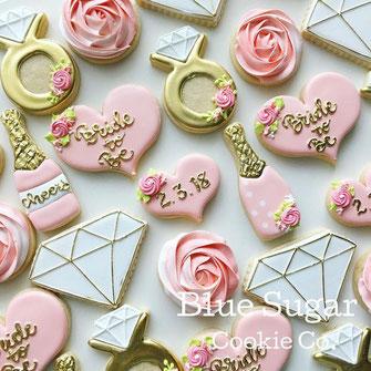 Decorated Wedding Sugar Cookies
