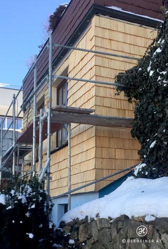 ... nachher: Holzschindelfassade