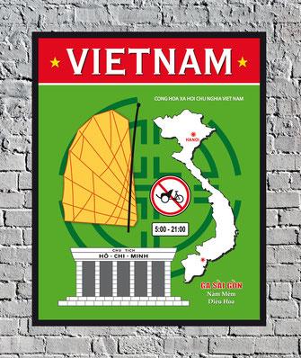 Vietnam Voyage Affiche Poster vintage decoration murale