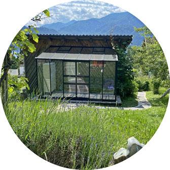 Glas-Wintergarten Tiny House Unterach