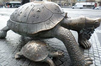Cliquer pour agrandir.                                                              Sculpture du  tchèque Ivan Theimer
