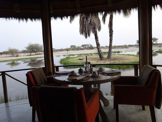 Le restaurant d'Onguma Bush Camp