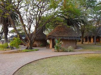 Les rondavels d'Onguma Bush Camp