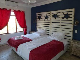 La chambre de nos filles à Windhoek Gardens Guesthouse