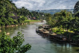 River Kwai in Kanchanaburi