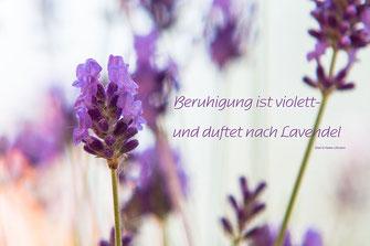 """Spruchkarte Lavendel """"Beruhigung ist violett-und duftet nach Lavendel"""