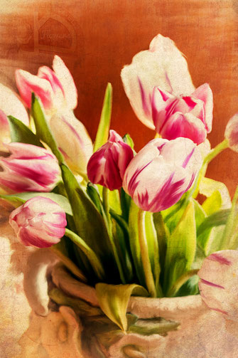 Tulpen in der Vase - digitales painting